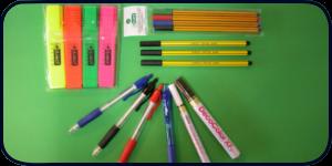 przybory do pisania, akcesoria biurowe, długopisy, ołówki, pióra, cienkopisy, zakreślacze