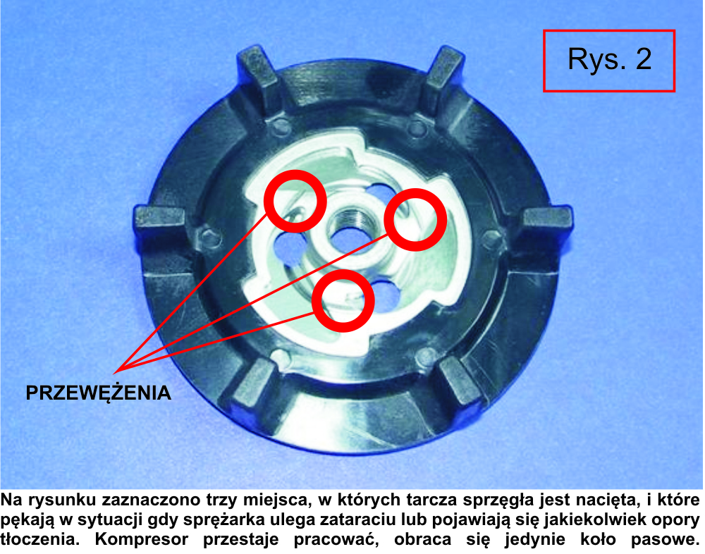 tarcza zrywalna sprzęgła kompresora denso