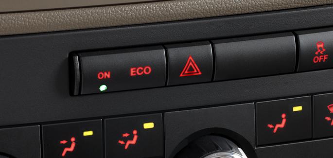 klimatyzacja samochodowa pracująca w trybie ekonomicznym - ECO