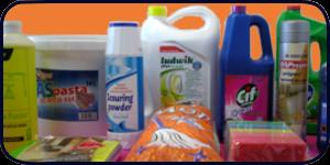 płyny do mycia naczyń, ścierki, papiery toaletowe