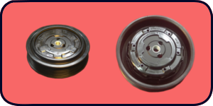 kompletne sprzęgło,  napędy koło pasowe, cewka elektromagnetyczna, łożysko,  zabierak